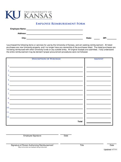 employee expense reimbursement form 3 free templates in