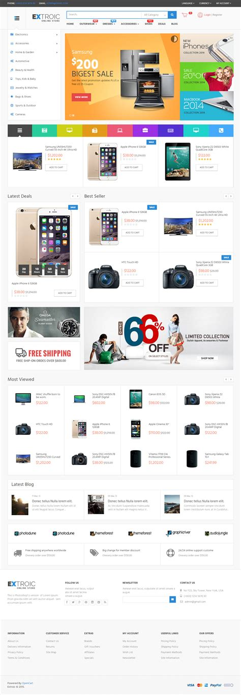 opencart templates responsive 25 best responsive opencart electronics store templates
