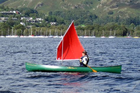 canoes with sails paddling and sailing solway dory expedition rig