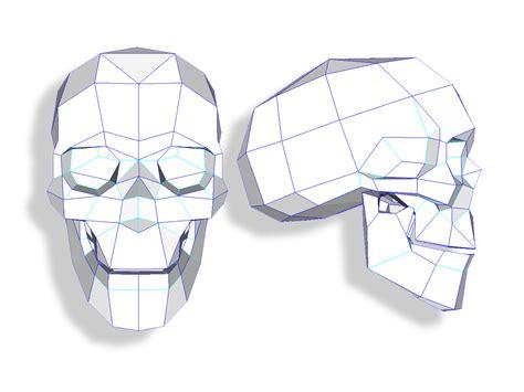 Paper Craft Skull - papercraft skull 1 joshua harker