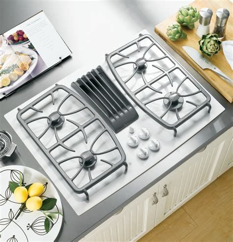 gas cooktops with built in downdraft ge profile series 30 quot built in gas downdraft cooktop