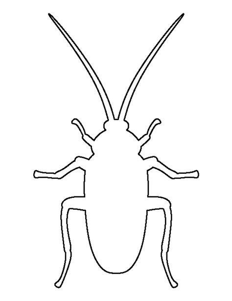 printable bug stencils cockroach pattern use the printable outline for crafts