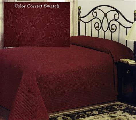 red quilts and coverlets country french deep red oversized bedspread coverlet