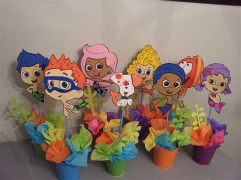 8 Foam Bubble Guppies Centerpieces Party By Diapercake4less Guppies Centerpiece Ideas