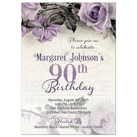 90th birthday invitations templates 90th birthday invitations invitations templates
