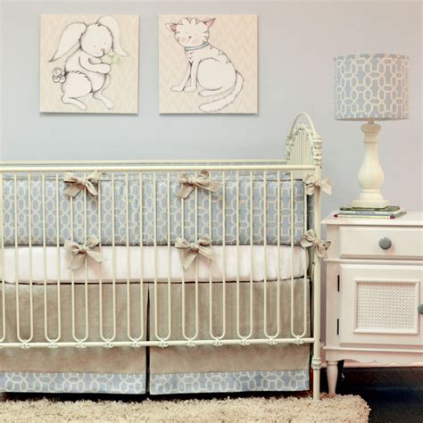 Modern Crib Bedding Doodlefish Peaceful Crib Bedding Set Modern