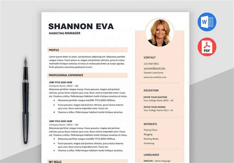 Shine Free Creative Resume Template Microsoft Word Creative Resume Template Word