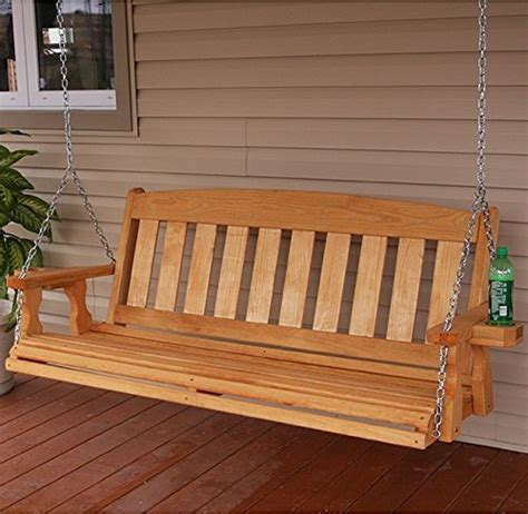 swing mission wooden porch swings top porch swing ebay with wooden