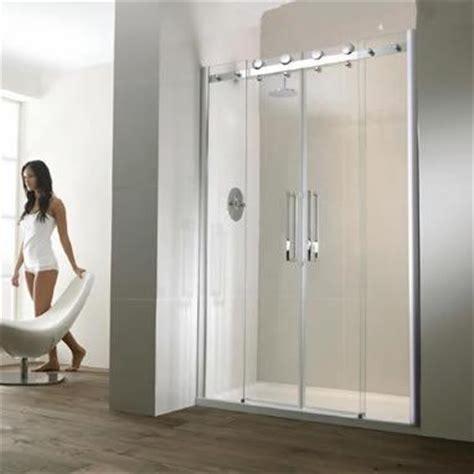 Frosted Bath Shower Screens aquaglass semi frameless twin sliding shower door