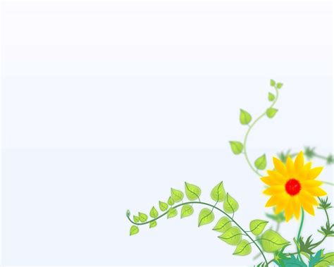Elegant Flower For Powerpoint Backgrounds Ppt Flowers Powerpoint Template