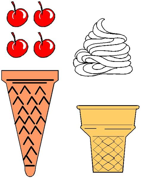 6 best images of ice cream cone pattern printable ice