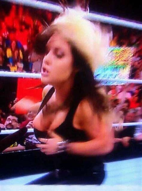 Kaitlyn Wardrobe Malfunction by Kaitlyn Suffers Wardrobe Malfunction While Attacking Aj