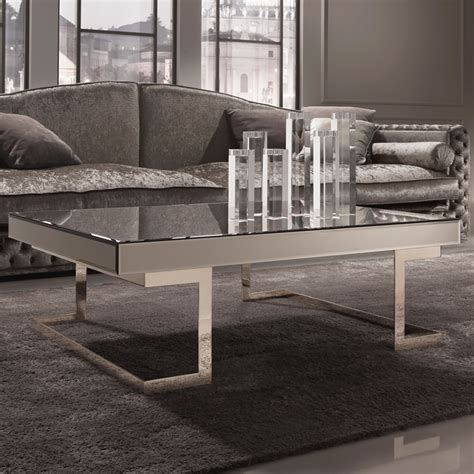 italian glass coffee tables contemporary designer italian mirrored glass coffee table
