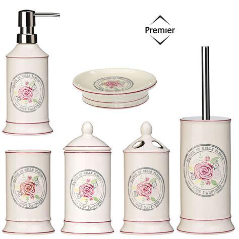 accessori bagno shabby chic bathroom accessories bath dispenser storage set ceramic