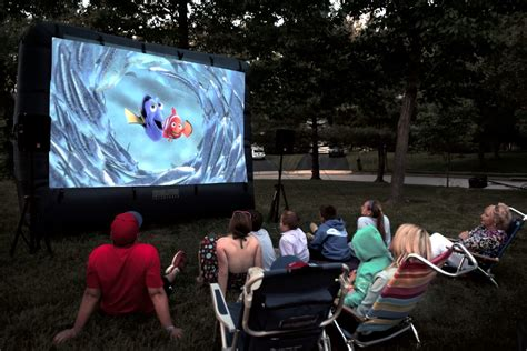 backyard movie screen rental outdoor inflatable movie screen rental national event pros