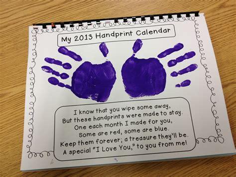calendar craft projects gwhizteacher handprint calendar