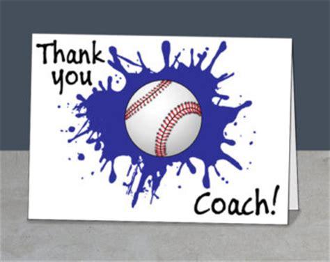 printable thank you cards baseball printable team thank you card for baseball coach instant