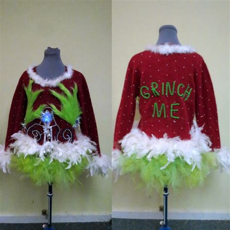 tacky light up sweaters fuzzy lime green tacky sweater light up feathers foo foo
