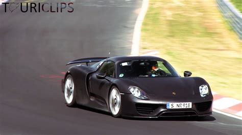 porsche 918 back porsche 918 spyder going to the max on the n 252 rburgring