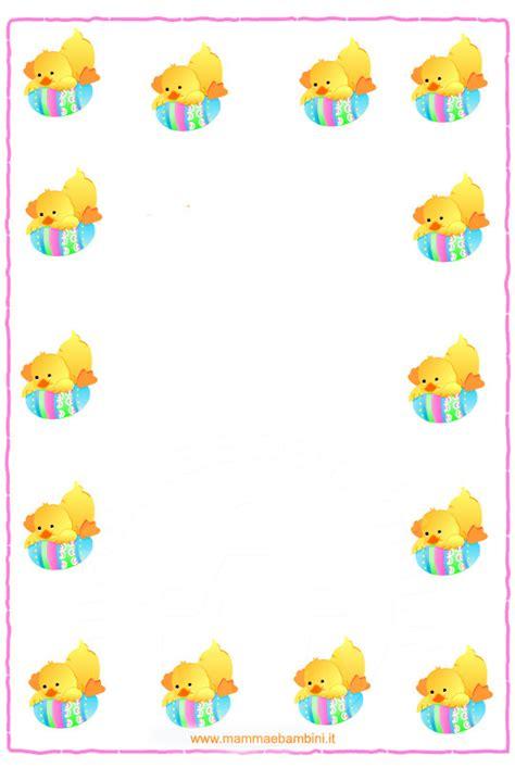 cornici per lettere d cornice e lettera buona pasqua mamma e bambini