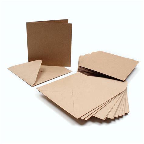printable kraft card uk kraft card and envelope 15 x 15 cm 30 pack hobbycraft