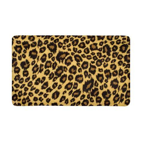Leopard Doormat by Brown Leopard Fur Doormat Anti Slip Entrance Mat Floor Rug