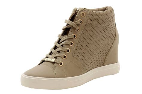 dkny wedge sneakers on sale donna karan dkny s fashion perforated taupe