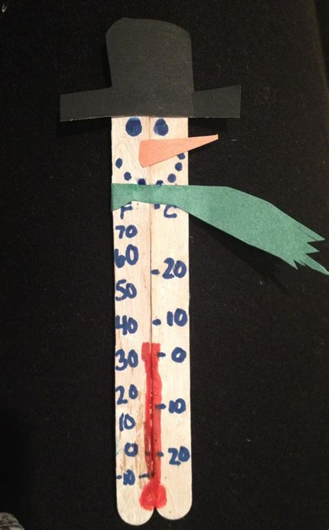Thermometer Stick popsicle stick crafts snowman thermometer created by