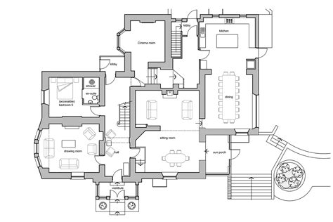 house ground plan floor plans derwentwater house keswick the lake district