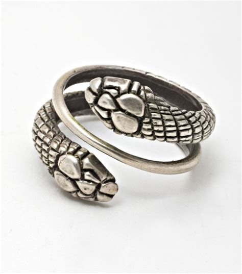 Two Headed Snake Ring by Two Headed Snake Ring In Silver Snakes And Spiders And