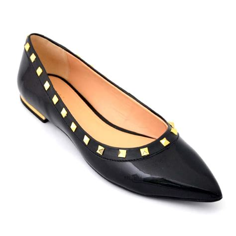 buy flats bellies stylish black color flat