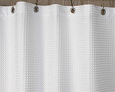 Shower Curtains 108 Quot Waffle Fabric Shower Curtain