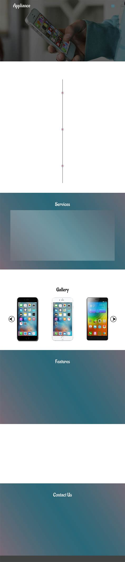 3 mobile website appliance a mobile apps category flat responsive web
