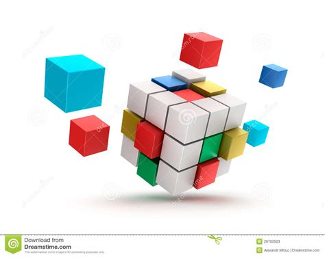 3d abstract cubes background on white stock photos