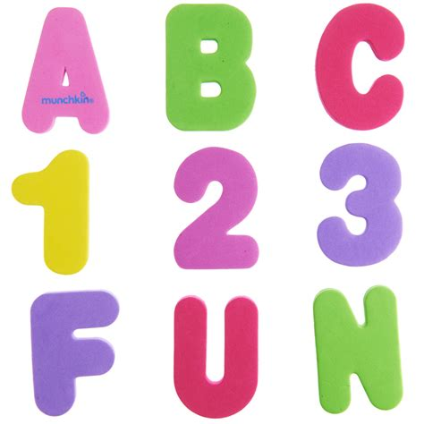 bathroom numbers learn bath letters numbers pastel 36 count