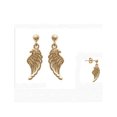 boucles d oreilles ailes d ange en plaqu 233 or ysia bijoux