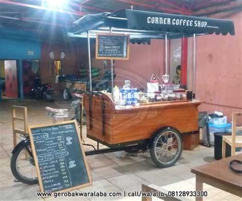 desain gerobak kopi gerobak sepeda kopi bike coffee bandung