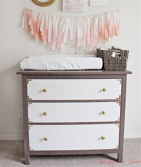 ikea hemnes hacks 10 easy ikea hacks for the nursery changing table