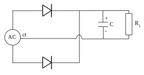 capacitor filter output produce a wave dc from rectifier circuit electrostudy