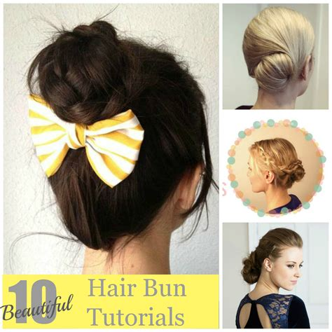 hairstyles buns tutorials 10 beautiful hair bun tutorials artzycreations com