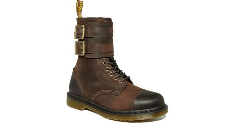 Dr Martens Low Boots 1 dr martens brock lace low boots in brown for lyst