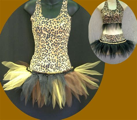 jungle themed clothing ideas tutu outfit cave girl jungle theme fancy dress costume ebay