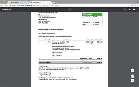 Rechnung Berechnen Englisch Software F 252 R Rechnungen Mahnungen Auftragsbest 228 Tigungen Falcana Sales