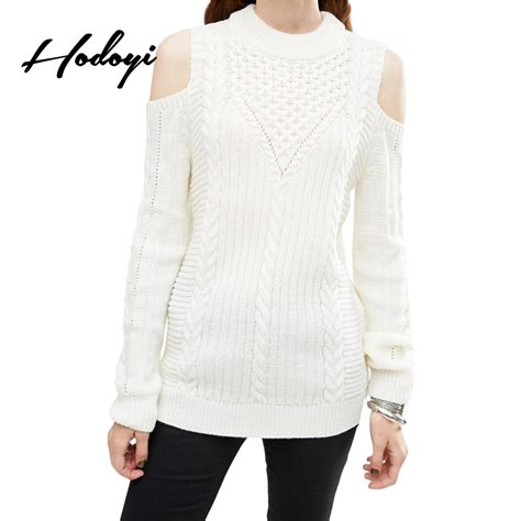 how to cut knitted sweaters get cheap cut out shoulder sweater aliexpress