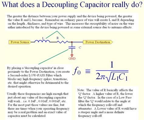 how much resistance does a capacitor decoupling caps the magic component parallax forums