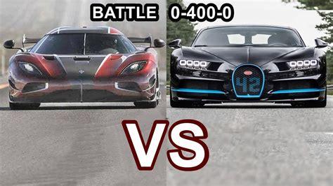 koenigsegg bugatti 2018 koenigsegg agera rs vs 2018 bugatti chiron s