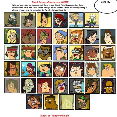 All Meme Characters - total drama characters meme edit by johnmarkee1995 on