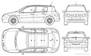 Renault Megane 2 Dimensions The Blueprints Blueprints Gt Voitures Gt Renault