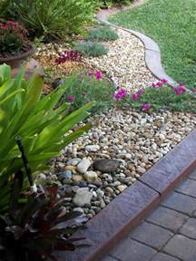 rock garden with potted plants rock garden ideas using nature exterior accent amaza design