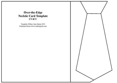 over the edge necktie card template cu4cu cup322943_99